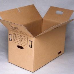 Tom flyttekasse klar til at blive pakket
